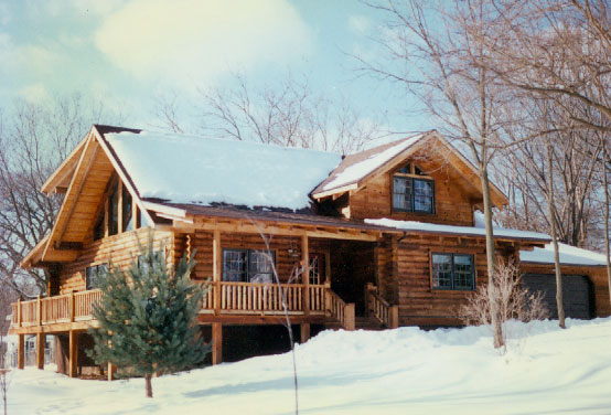 Stone city log homes for Aspen style home designs